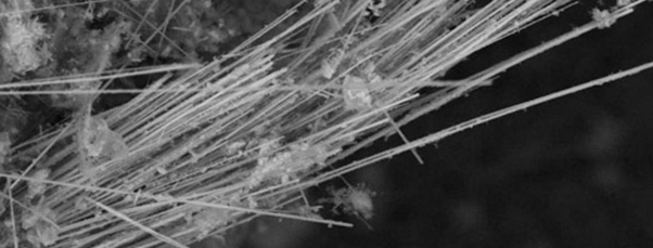 Amphibole - has physical characteristics of needle like shards (similar to fiberglass). It is resistant to being bent or curled. The two types of amphibole used were; Amosite & Crocidolite -