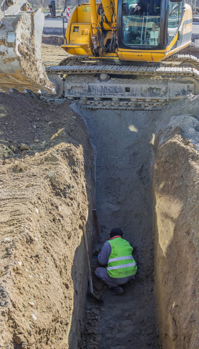 A trench like this is a confined space.
