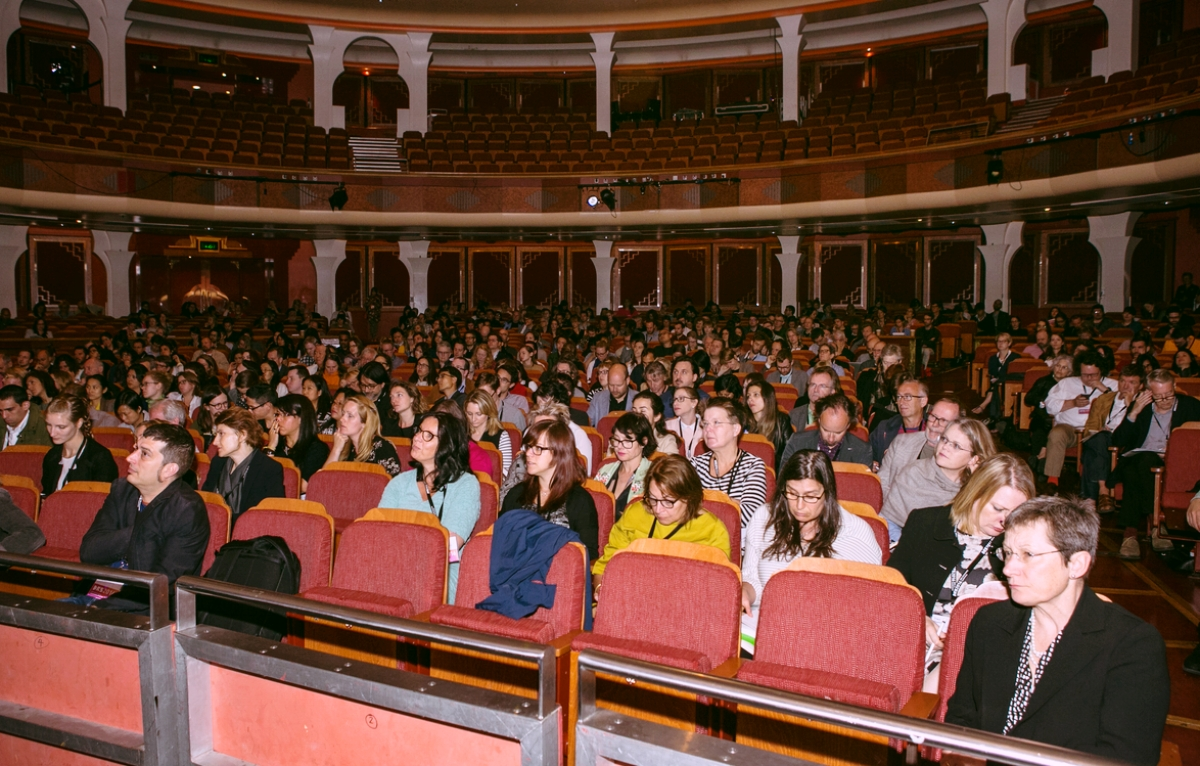 A view into the audience in the Brighton Dome at DRS 2016.