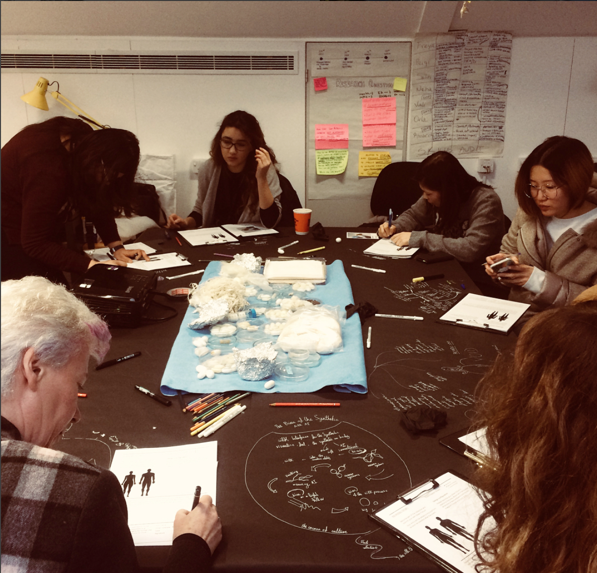 Impressions from the workshop day at the Royal College of Art.