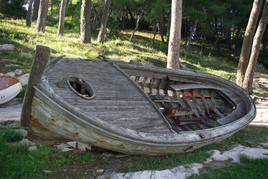 Abandon Wooden Boat