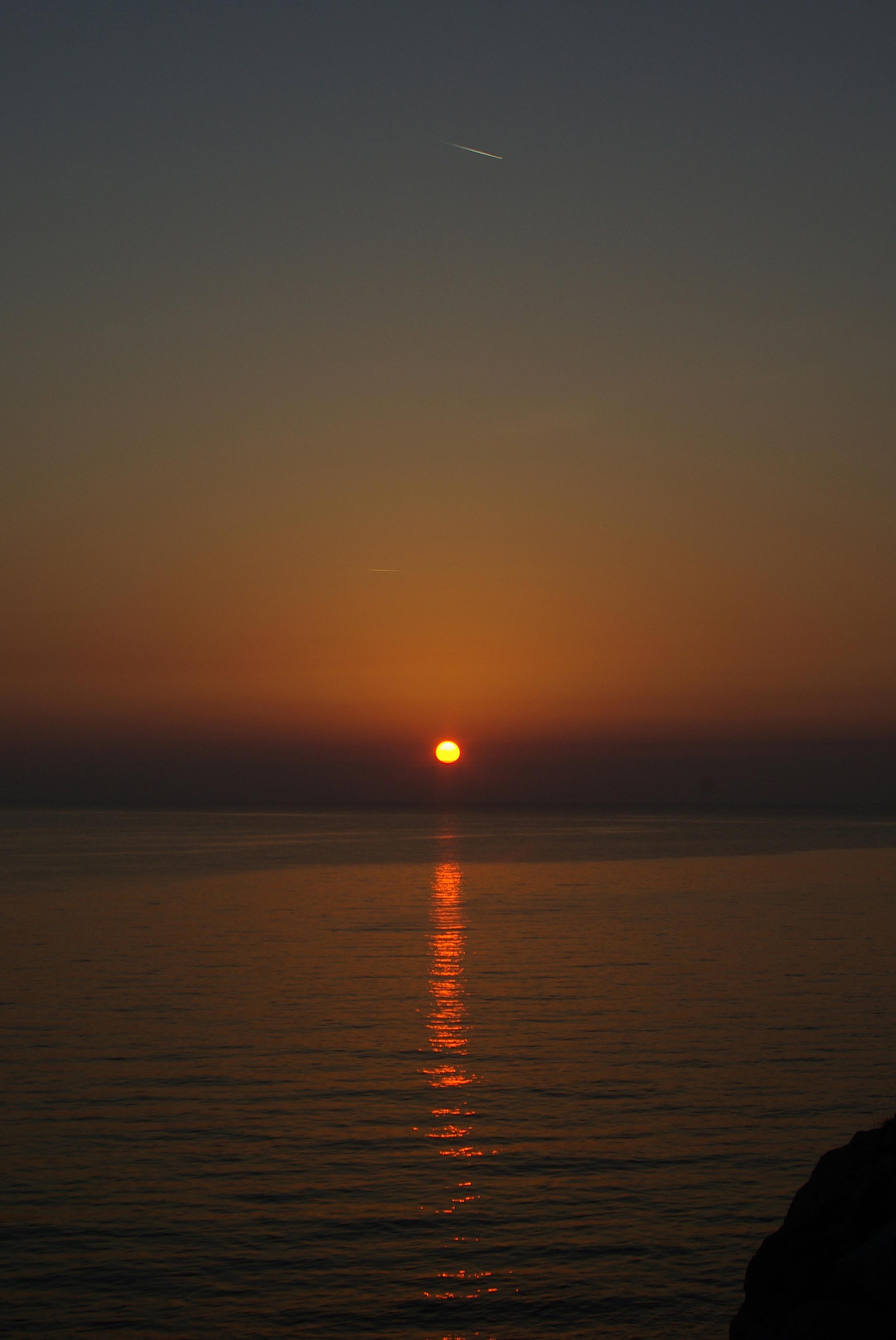 Plane Over Sunset