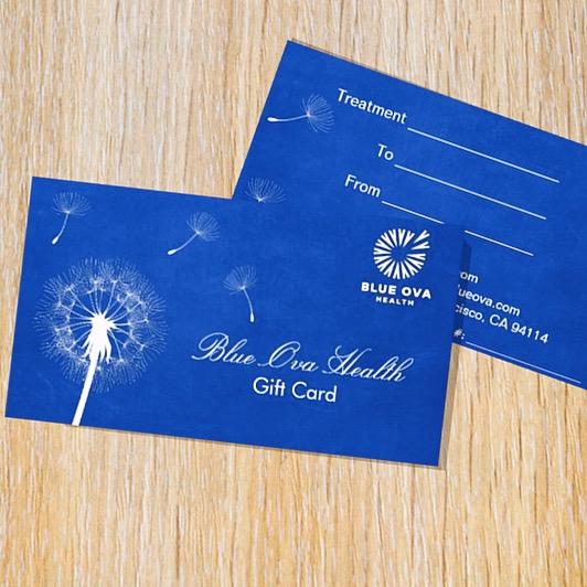 Blue Ova Health Gift Card