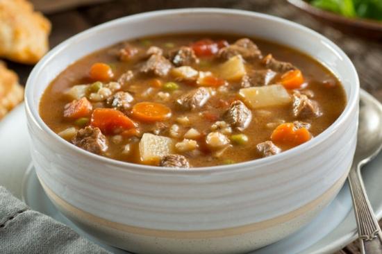 Beef, Barley & Root Veggie Stew