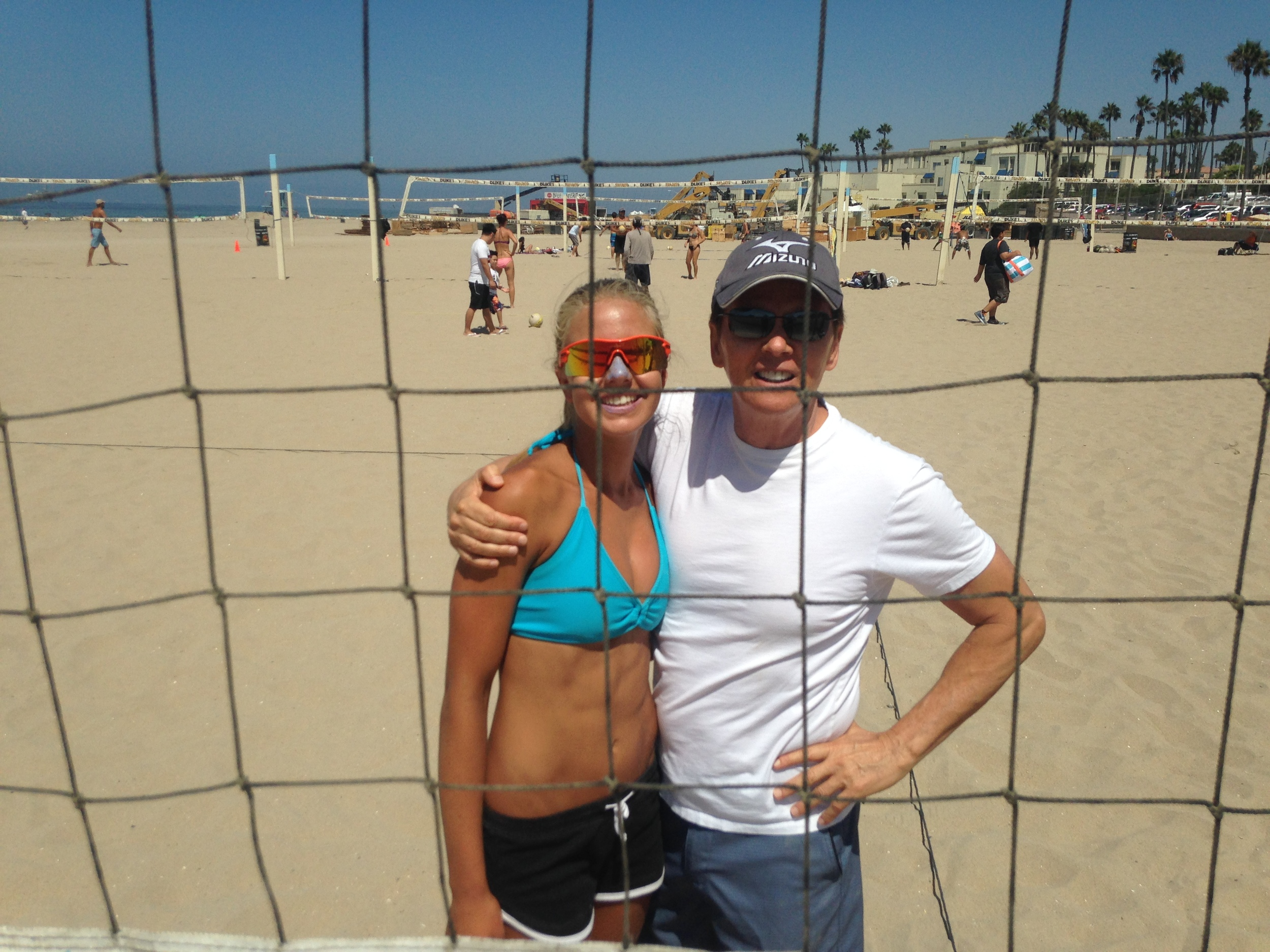 Samantha Thomas has been offered a spot  by coach Brian Gimmillaro (right) on the CSULB women's beach volleyball team for 2015. Congrats Sammee and good luck.