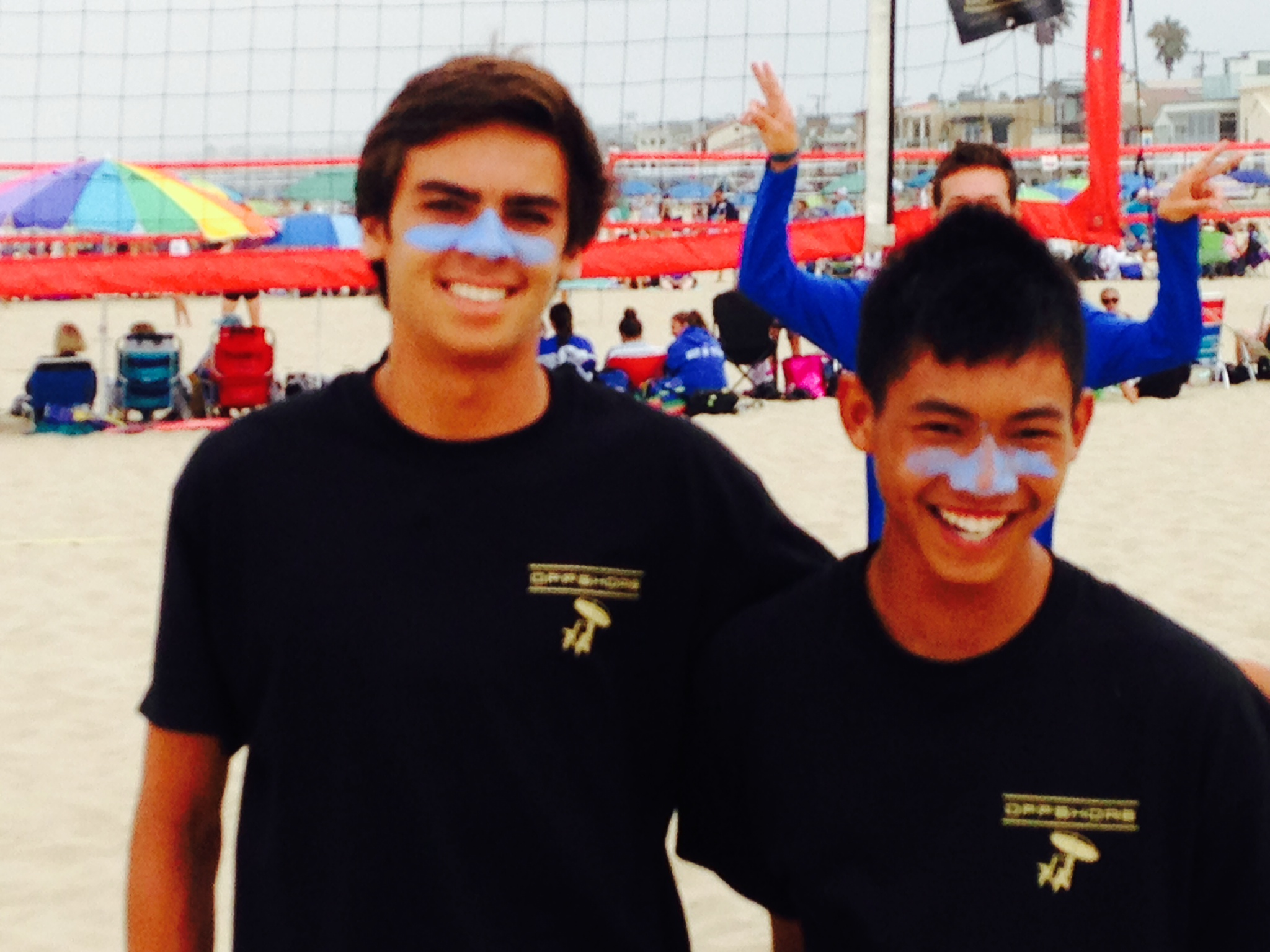 Brian Beggs (left) and Anthony Wong of Los Alamitos HS