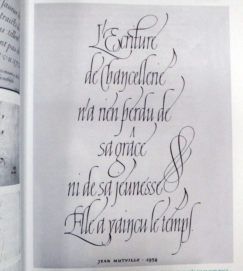 Chancery Cursive Calligraphy by Jean Larcher