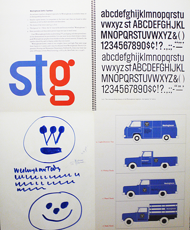 Westinghouse gothic typeface by Paul Rand ©Print magazine