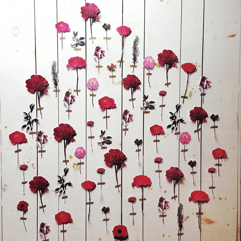 diy floral wall backdrop wedding