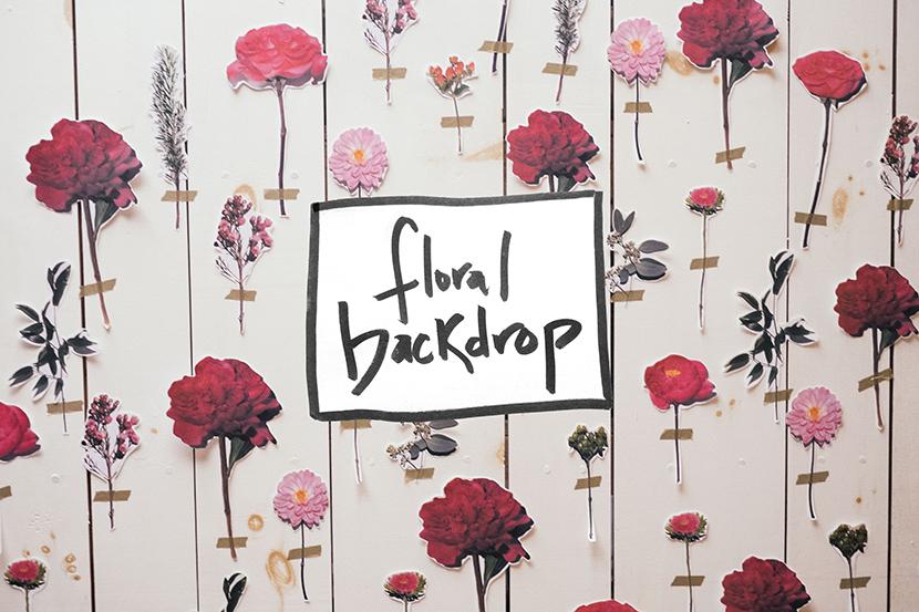 diy floral wall backdrop