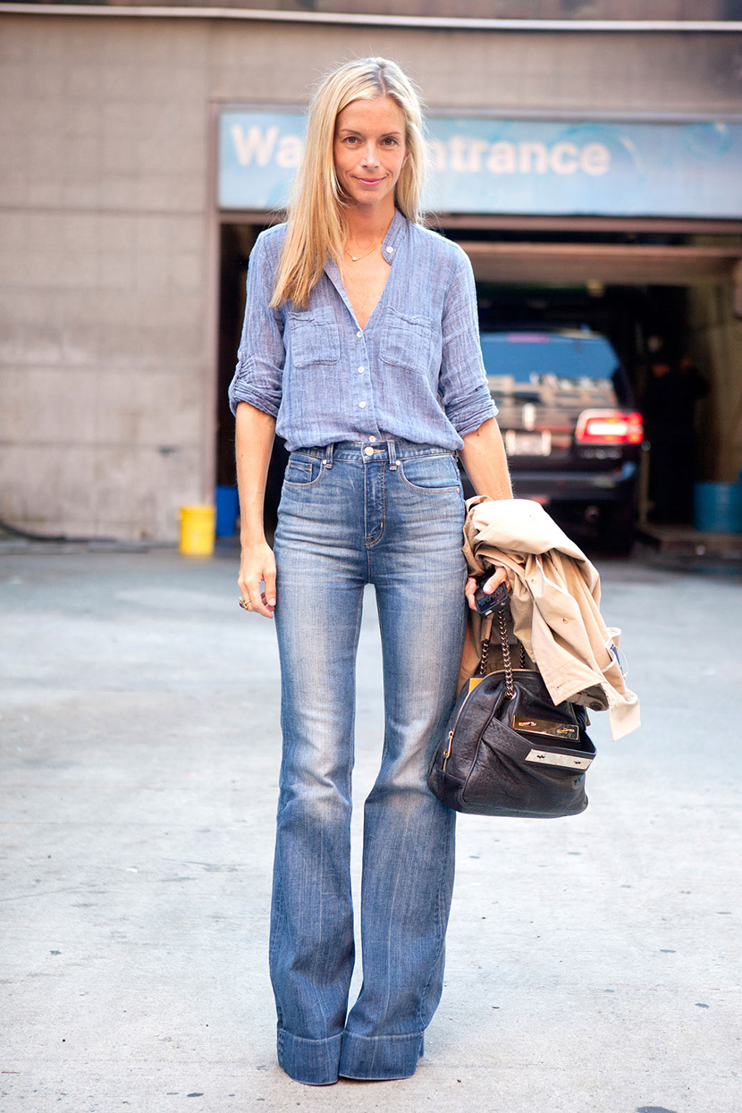 how to wear flare jeans fall inspiration