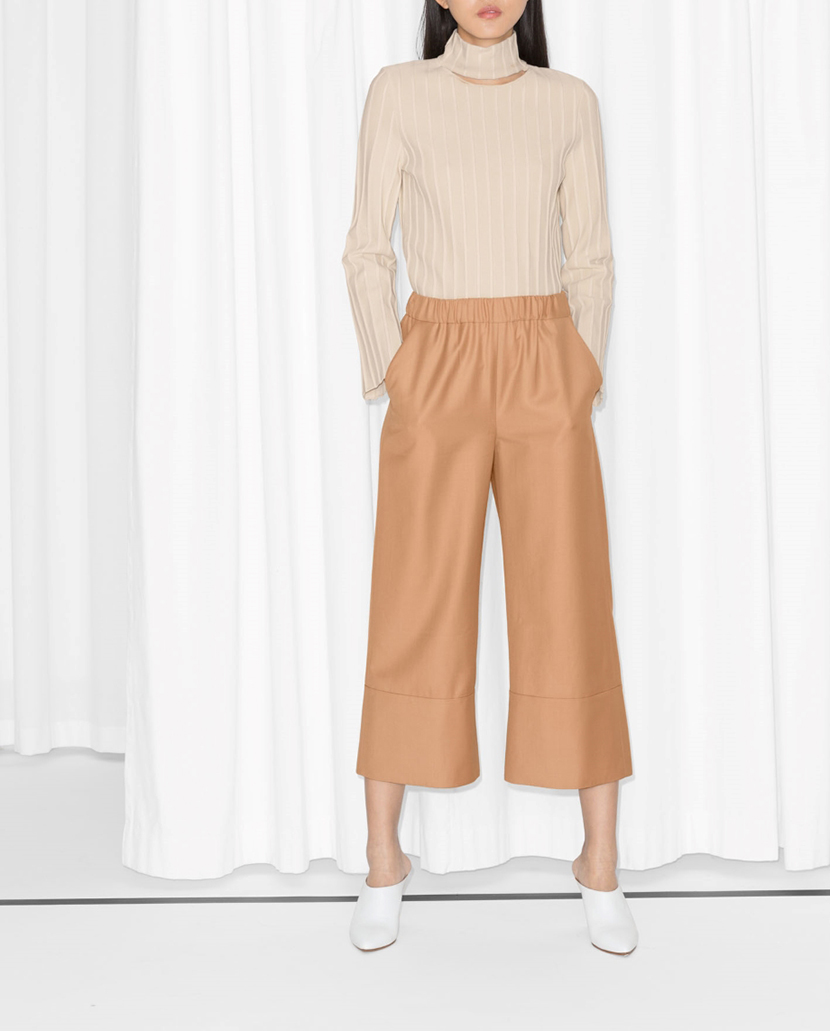 how to wear wide leg pants to work