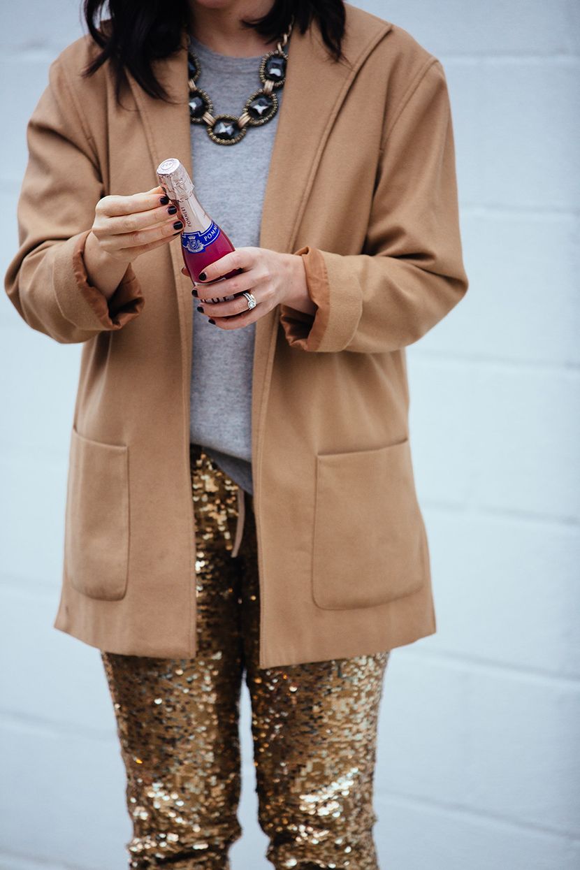sequins pants outfit new years