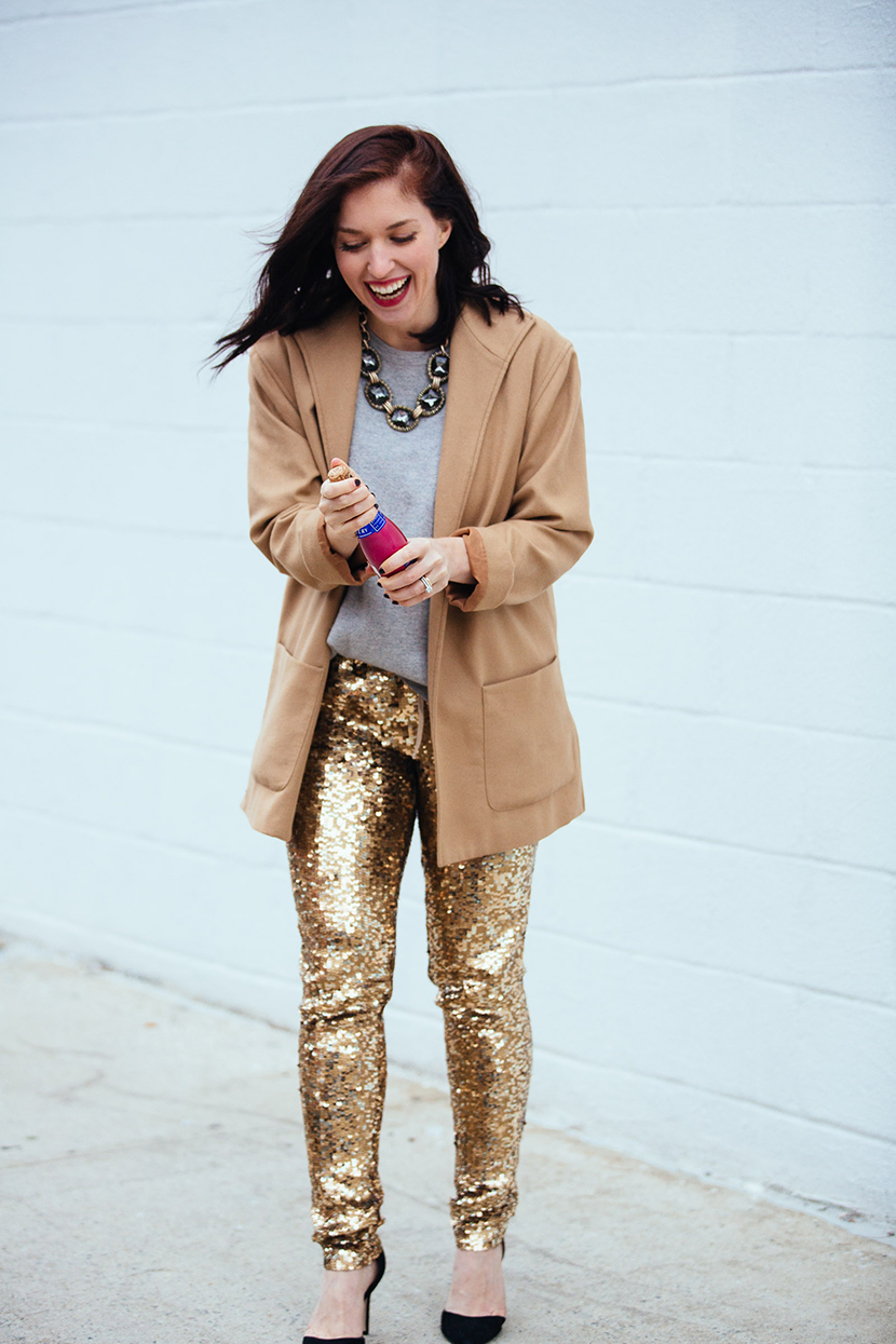 best new years eve outfits sequin pant