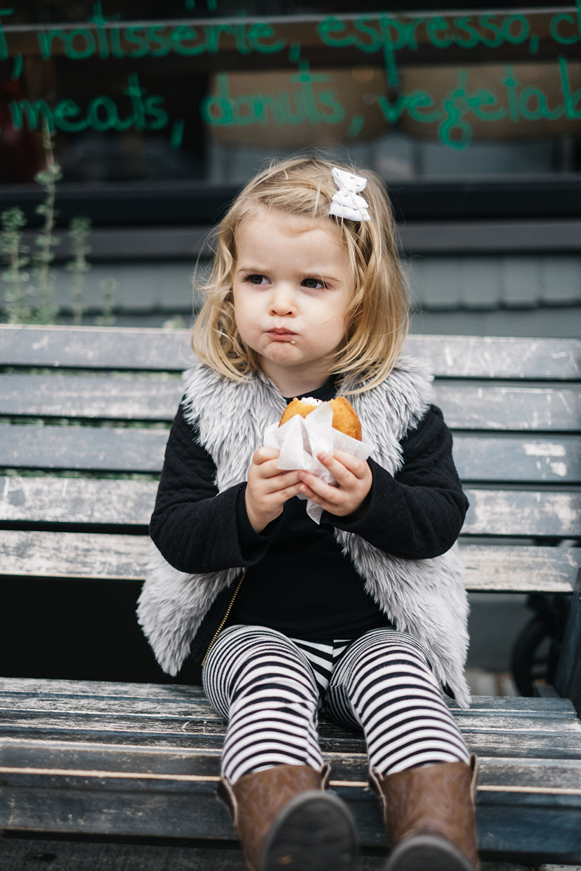 cute kid eating a donut!