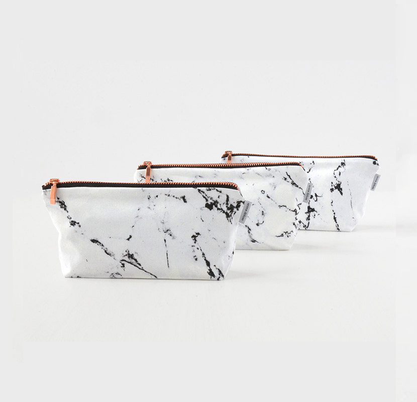 travel cosmetic bags marble