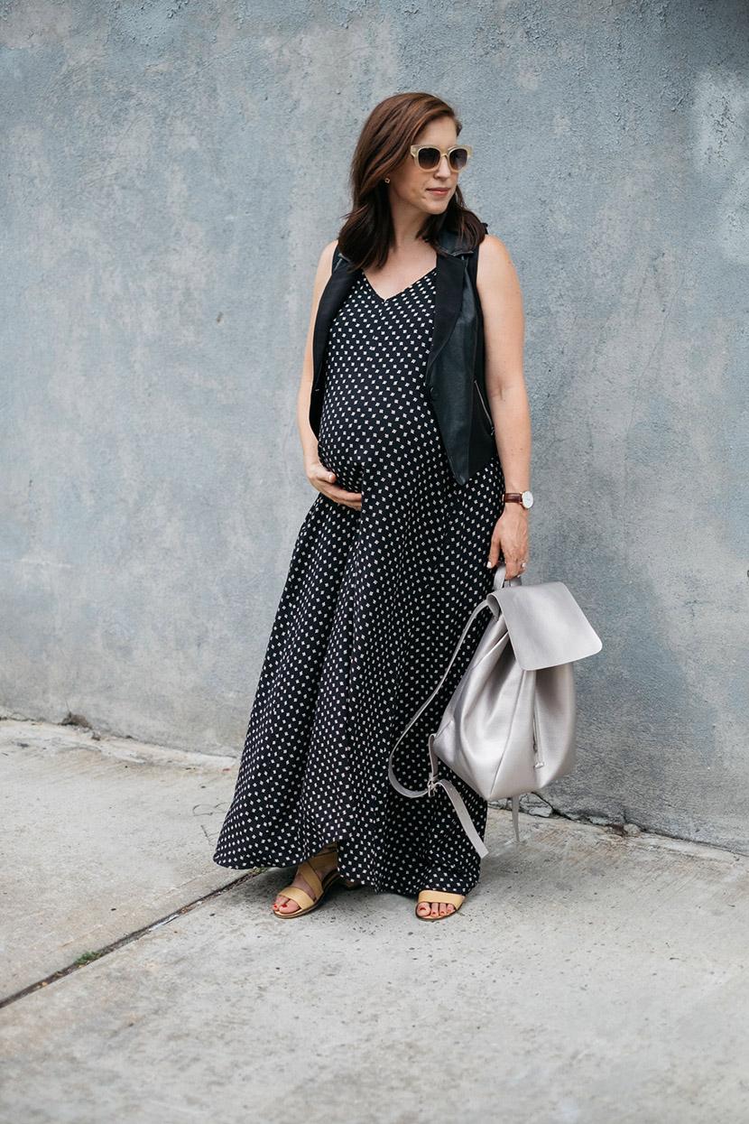 maternity fashion maxi dress