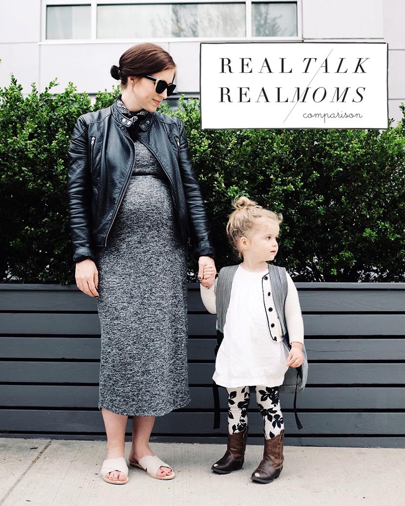 comparison among moms social media