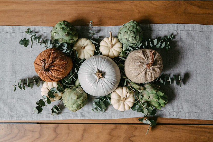 easy thanksgiving table decoration