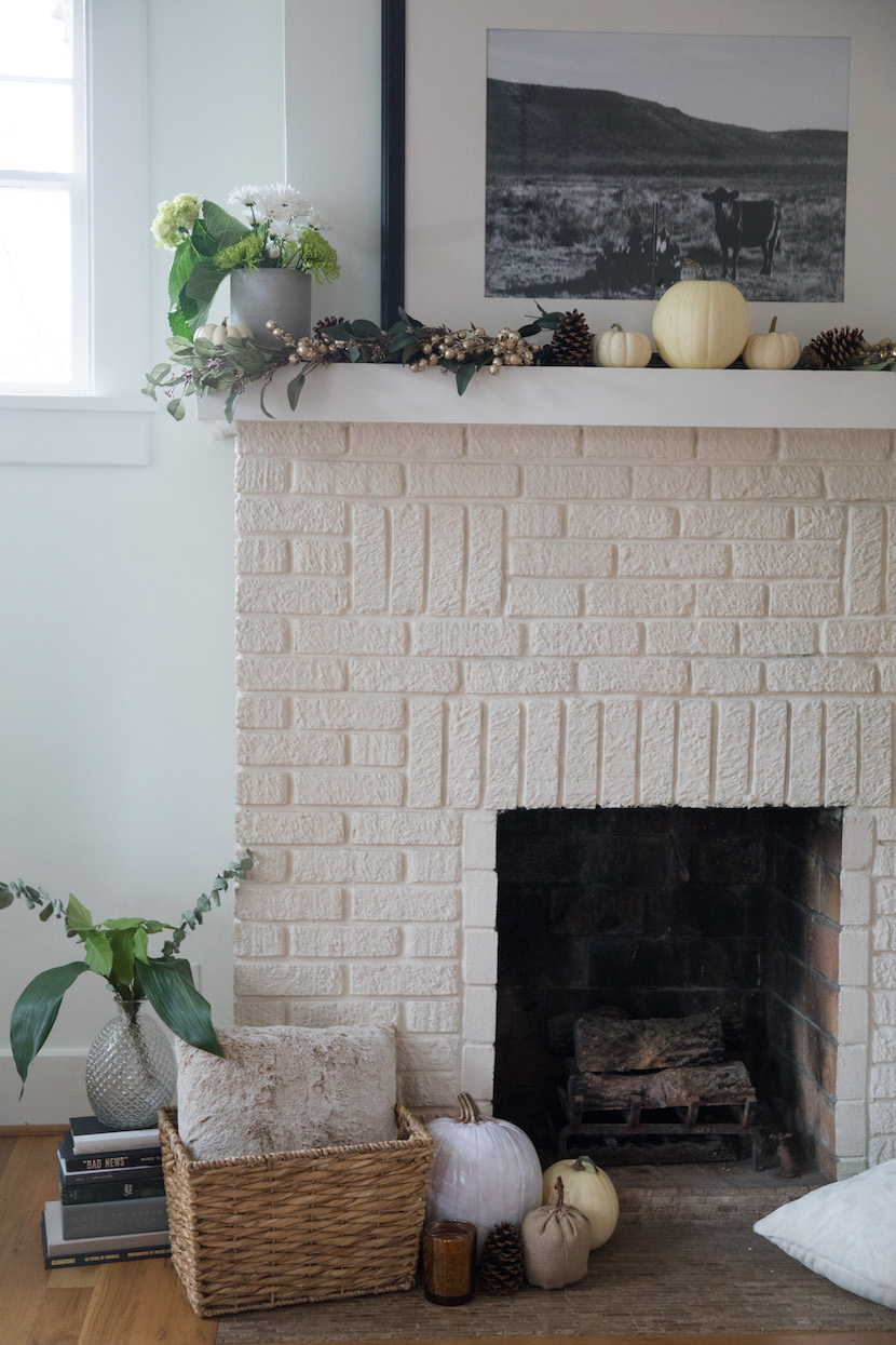 fall harvest fireplace decoration inspiration