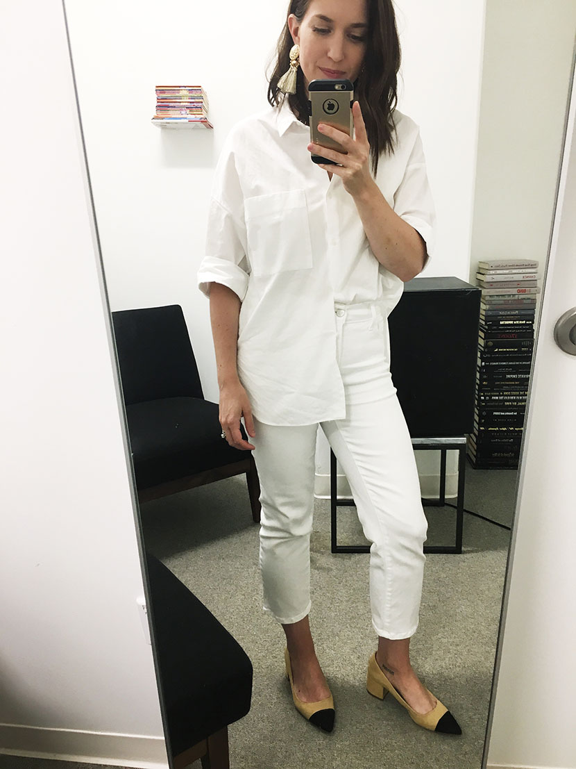 white on white outfit, winter white outfit