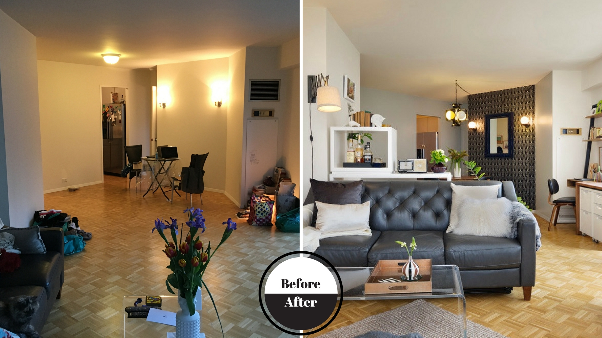 Before & After Open Living Room