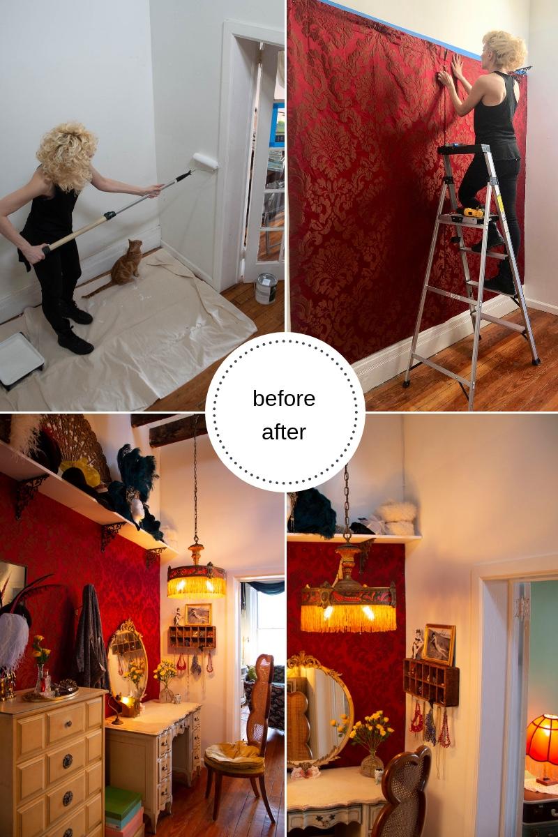 Before & After Vintage Dressing Room