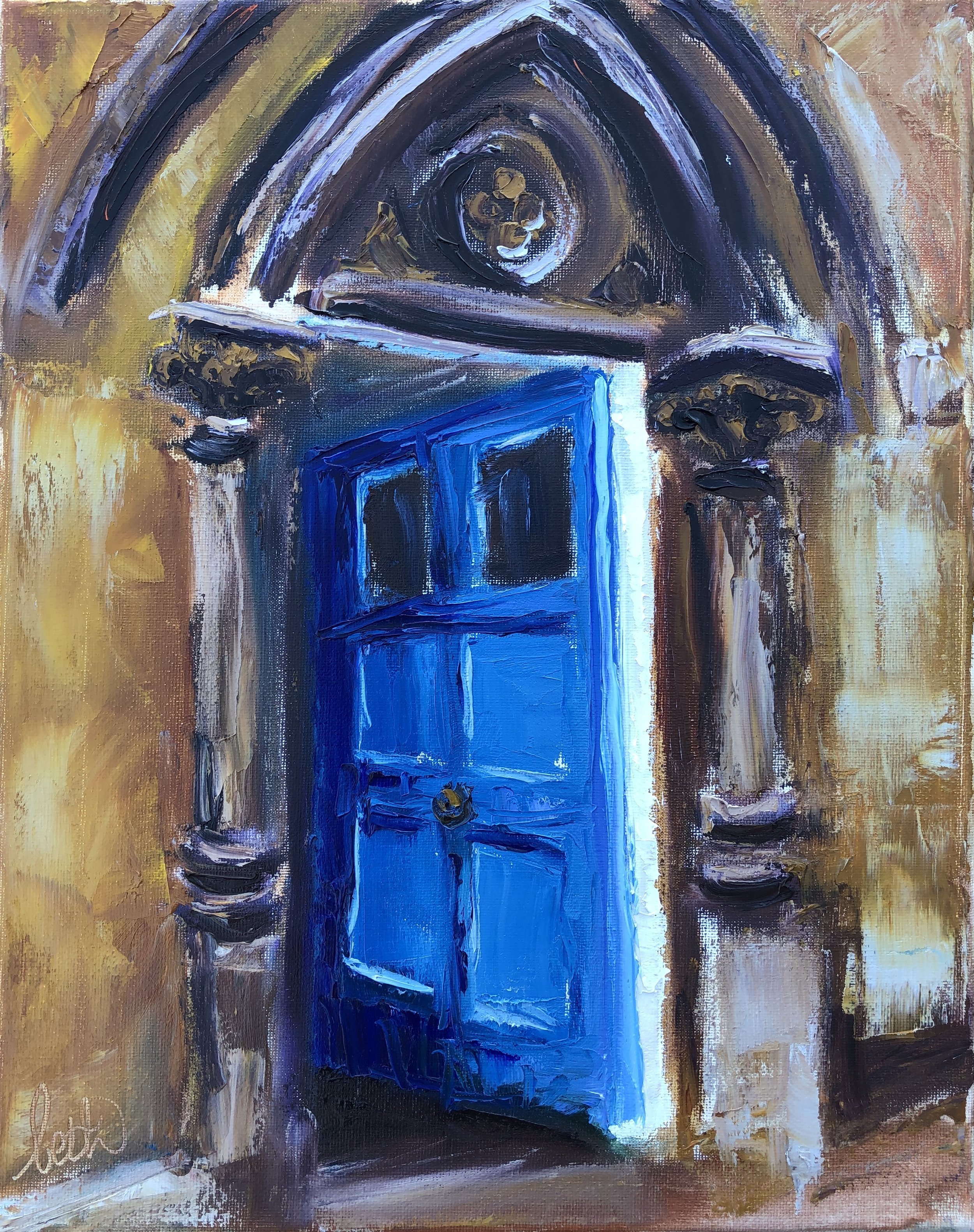 Open Blue Door at Oxford