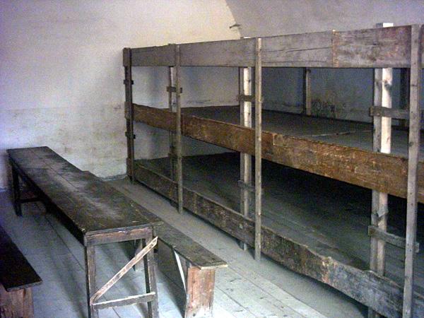 Terezin barracks, where Jewish prisoners lived and slept.