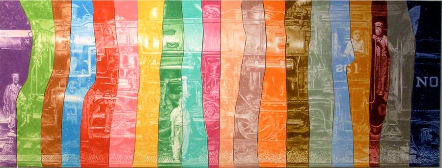 """Train Save, 32"""" x 15"""", colored pencil, 2009"""