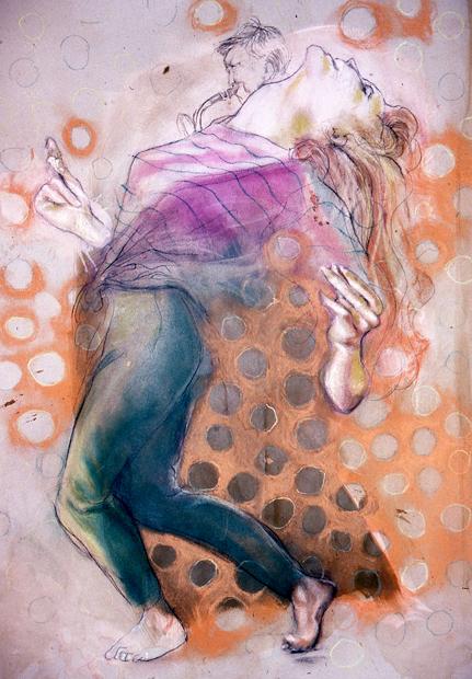 """Lofty, 24""""x18"""", conte crayon on paper, 2008"""