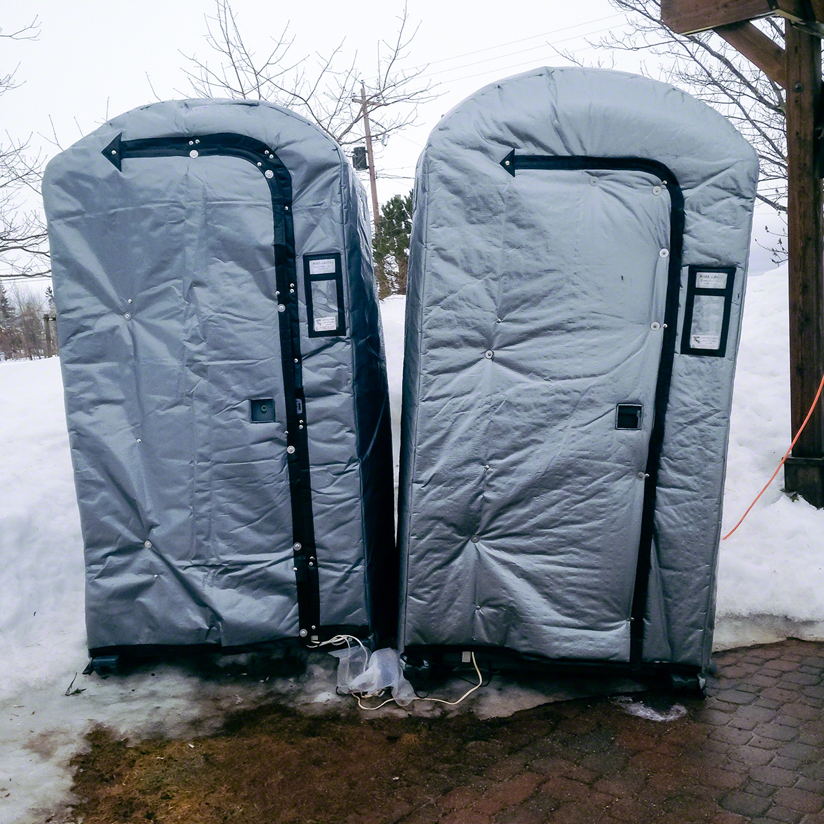Heated outhouse - Canadian style