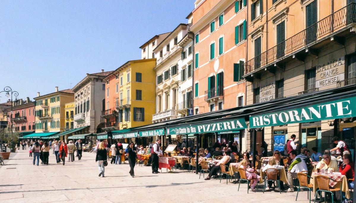 Piazza Bra - Verona, Italy
