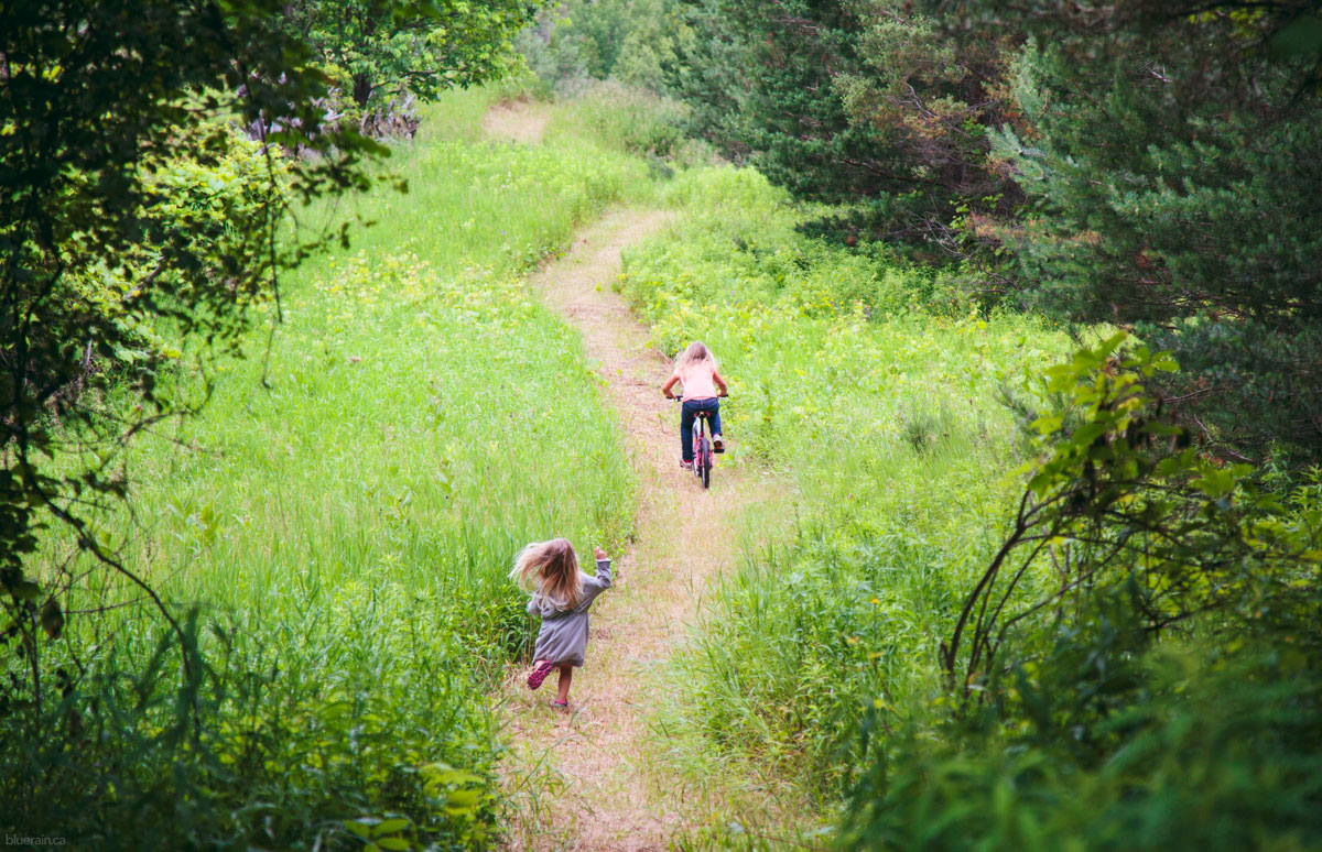 The kids almost always run or skip along this path - they rarely walk