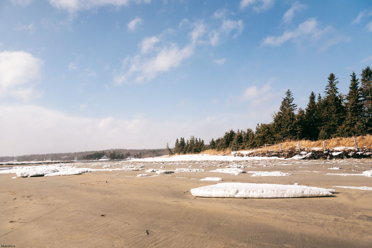 rissers beach nova scotia canada winter