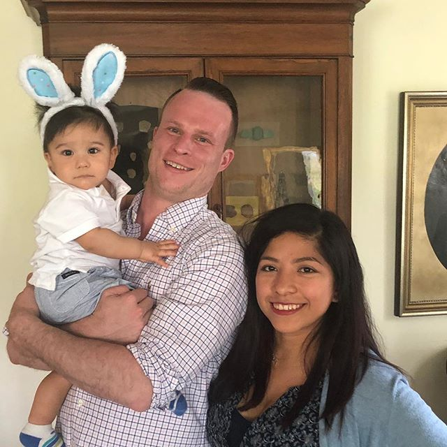 Our little bunny,Happy Easter!! . . . . . . #easter #easterbunny #grandchild #family
