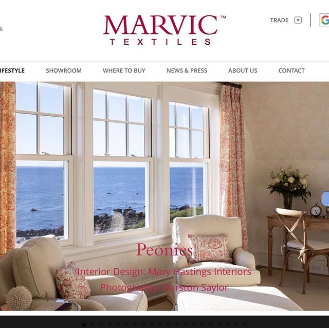So thrilled to be featured on Marvic's website! . . . . . . . . . . . #marvicfabrics #interiordesign #interiordesigner #englishfabric #capecod #bedroom #bedroomdesign