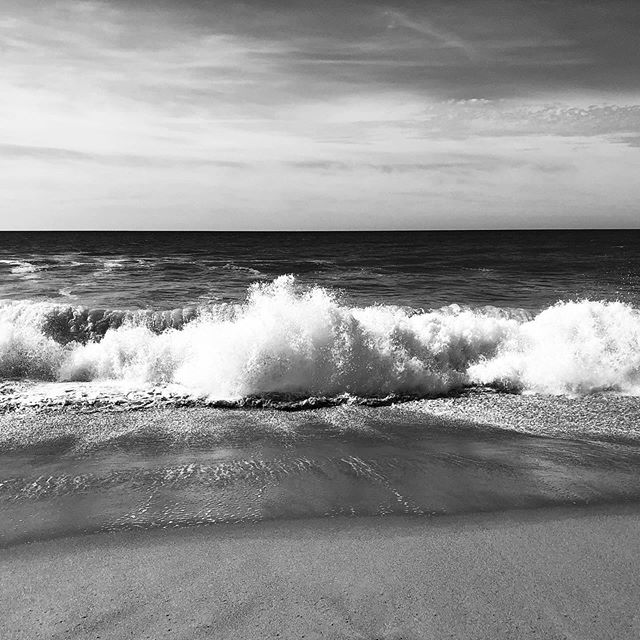 Ocean studies at high tide. . . . . . . . . . . #marthasvineyard #ocean #blackandwhite