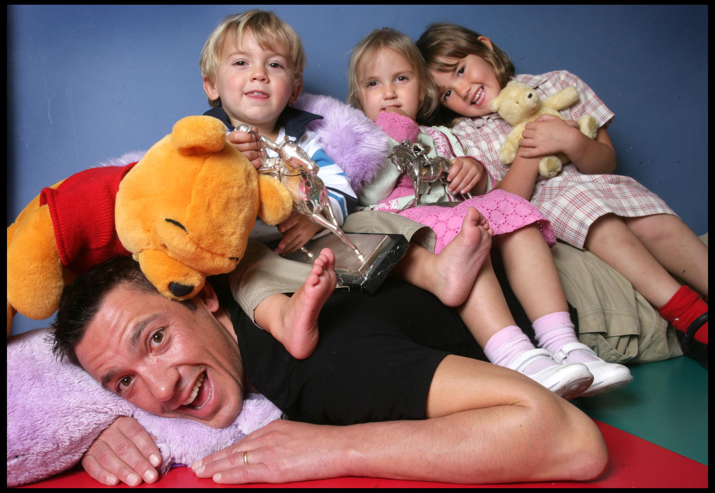 Frankie Dettori and family , jockey