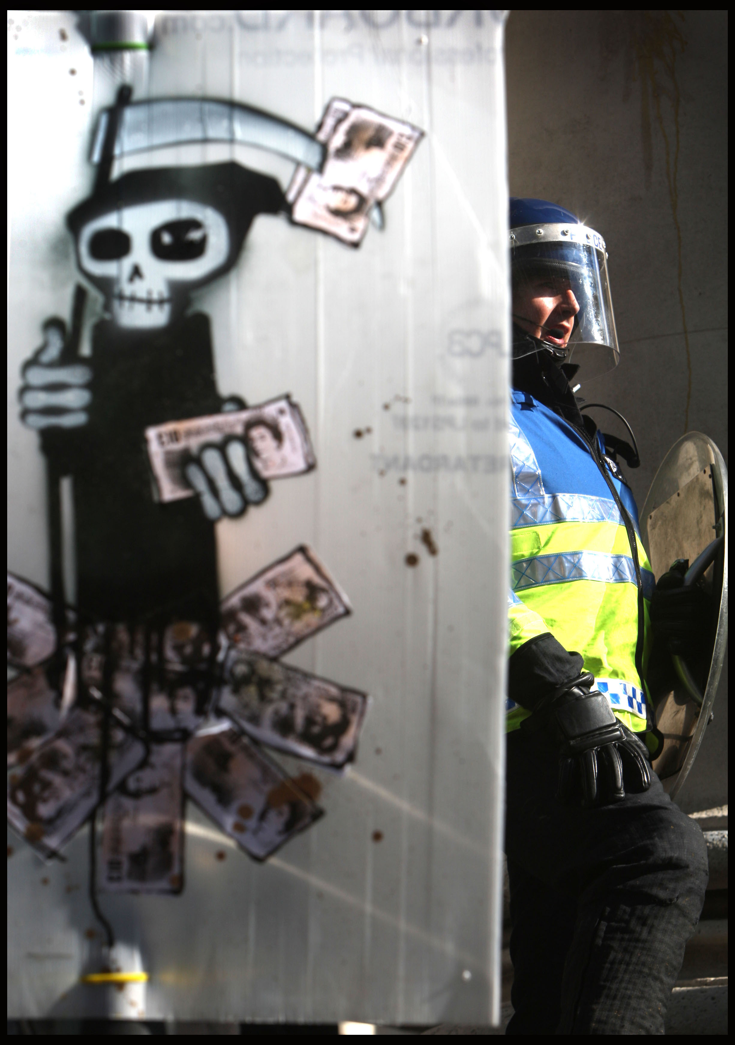 Anti capitalist protest, City of London