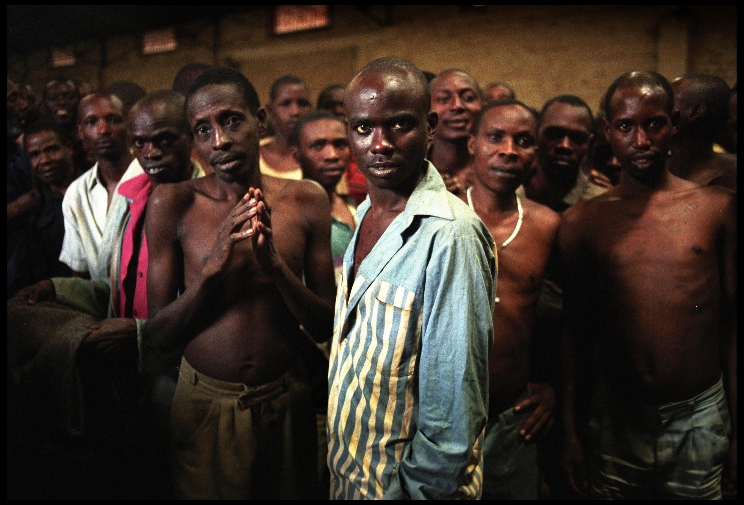 Hutu prisoners held on genocide related charges, Rwandex prison, Butare, Rwanda