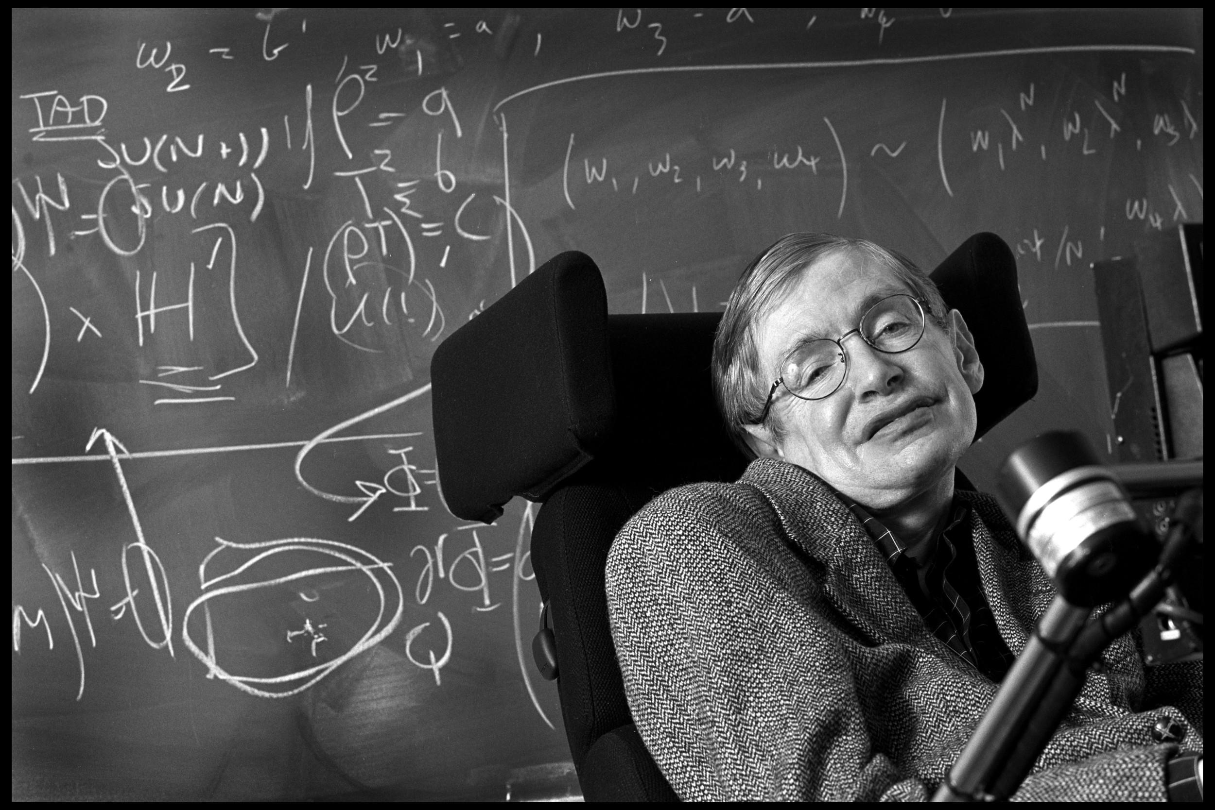 Professor Stephen Hawking, astrophysicist
