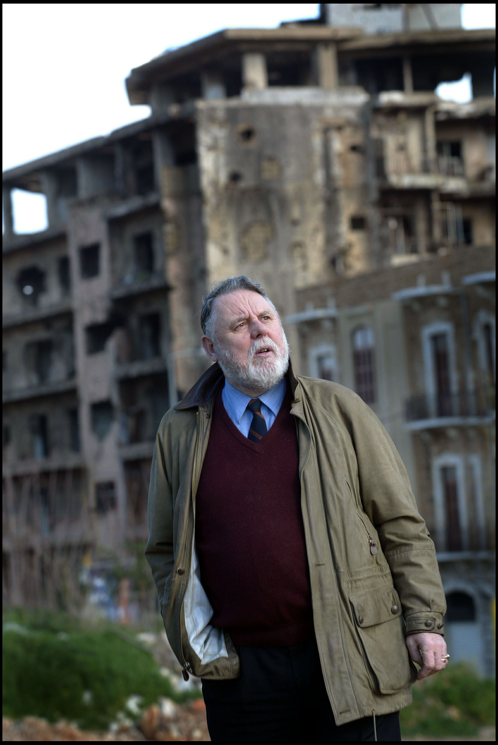 Terry Waite returns to Beirut for the first time, 13 years after being released from his five year kidnap ordeal.