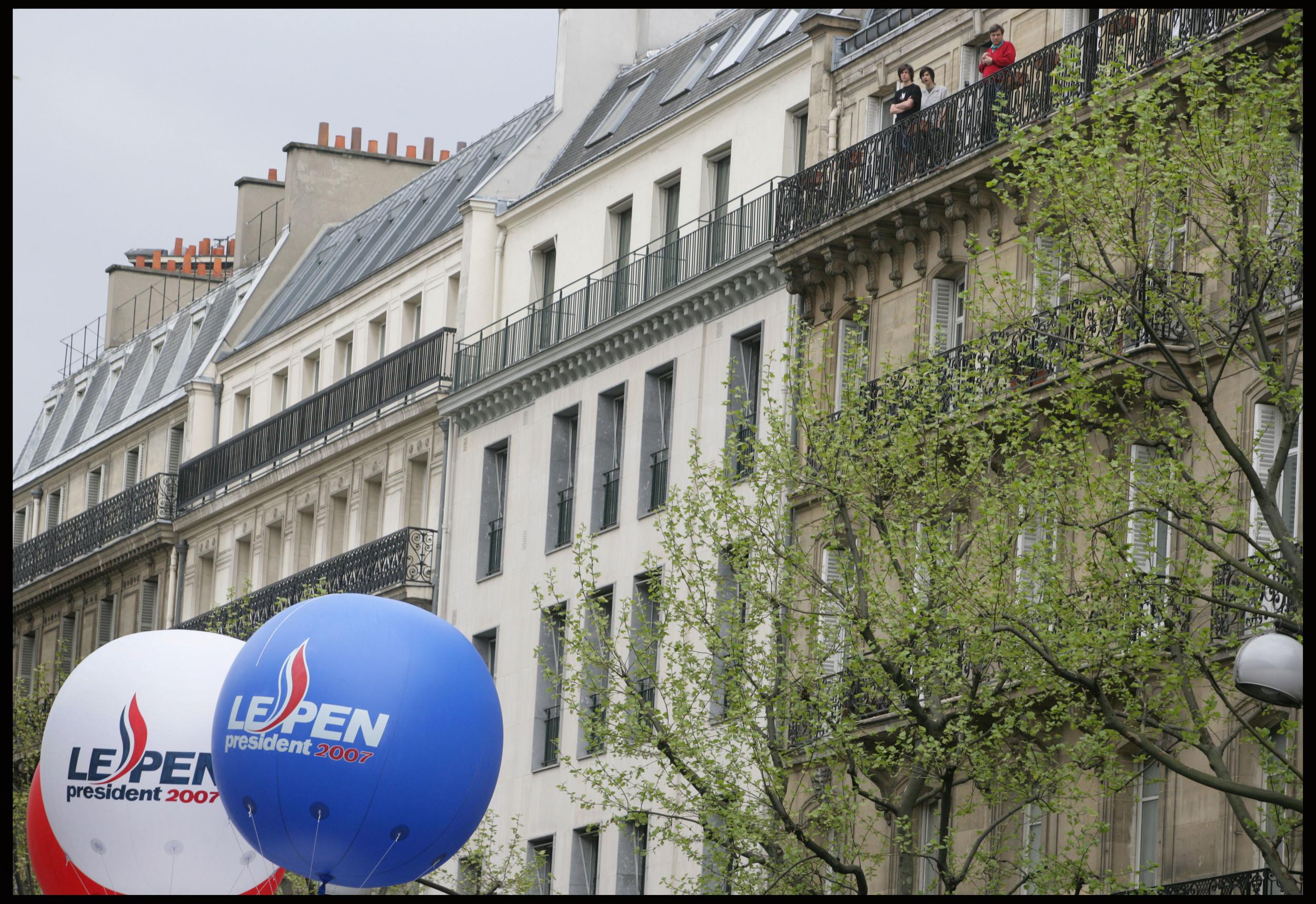 Le Pen rally, central Paris