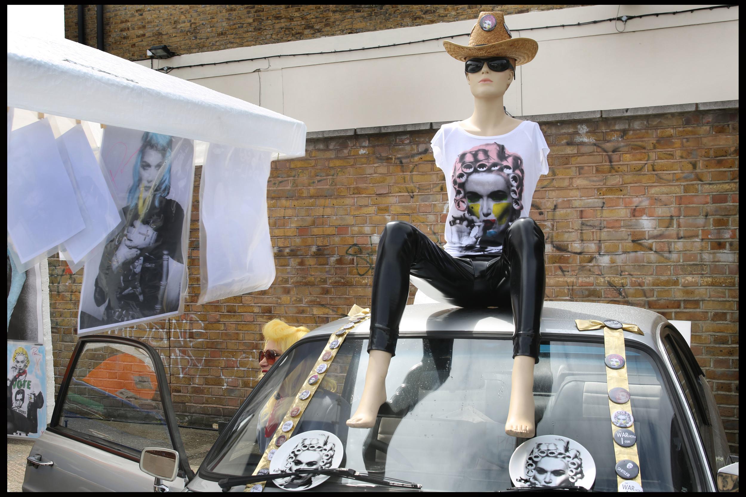 Pam Hogg, Art Car Boot Fair, London