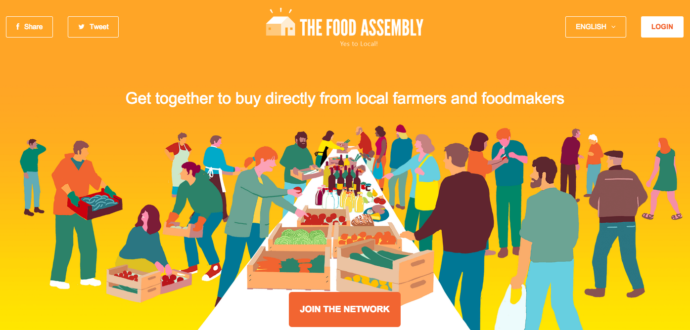 The Food Assembly's landing page, super ergonomic and eco friendly !
