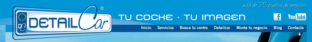 La pagina principal del sitio web de   DetailCar  .