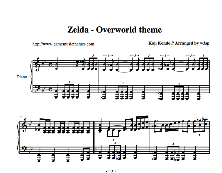 """The main theme of the magical game """"The Legend of Zelda"""" originally released on the Super Nintendo / Famicom."""