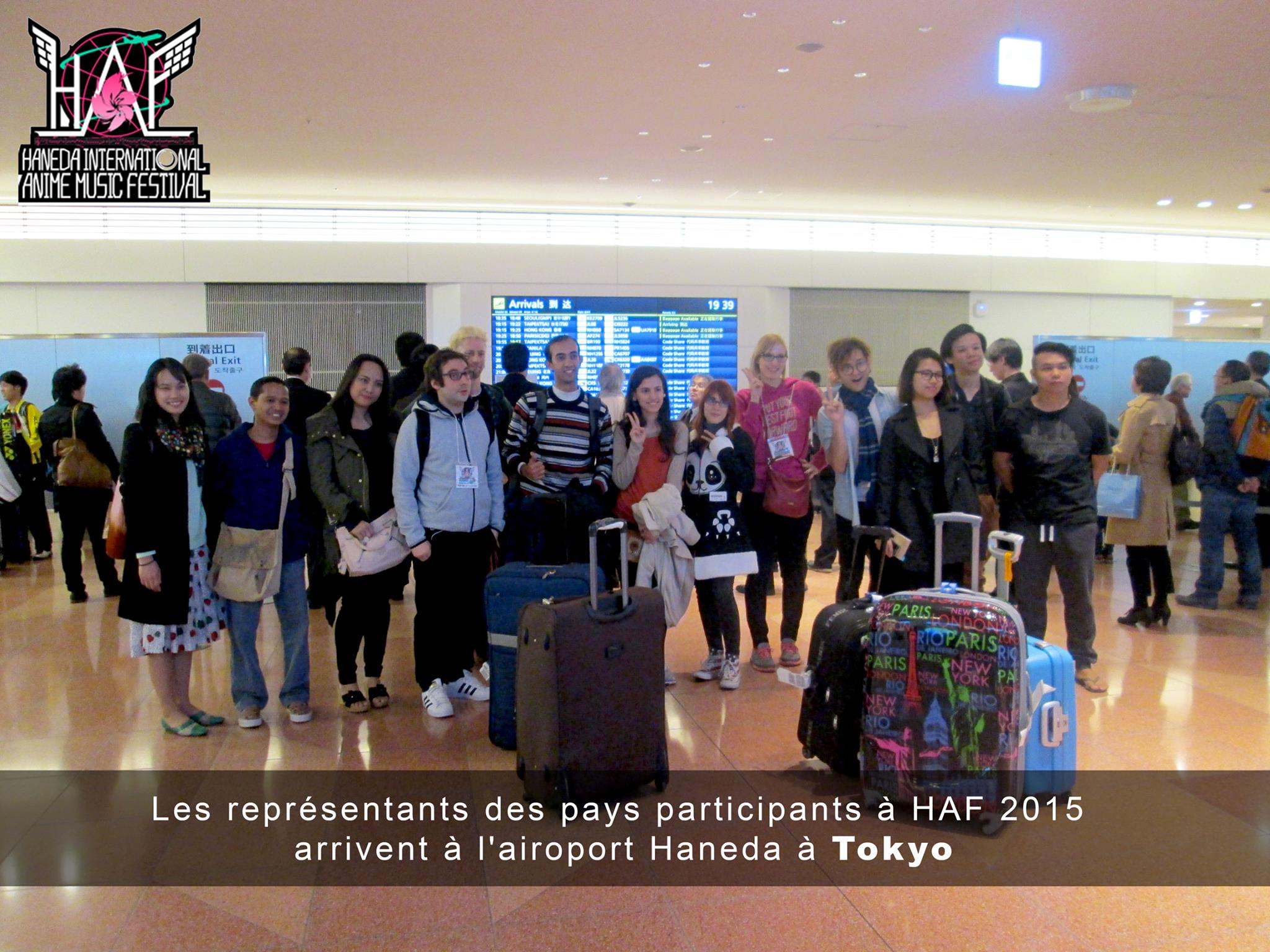 Here welcoming everyone at Haneda Airport on March 26th.