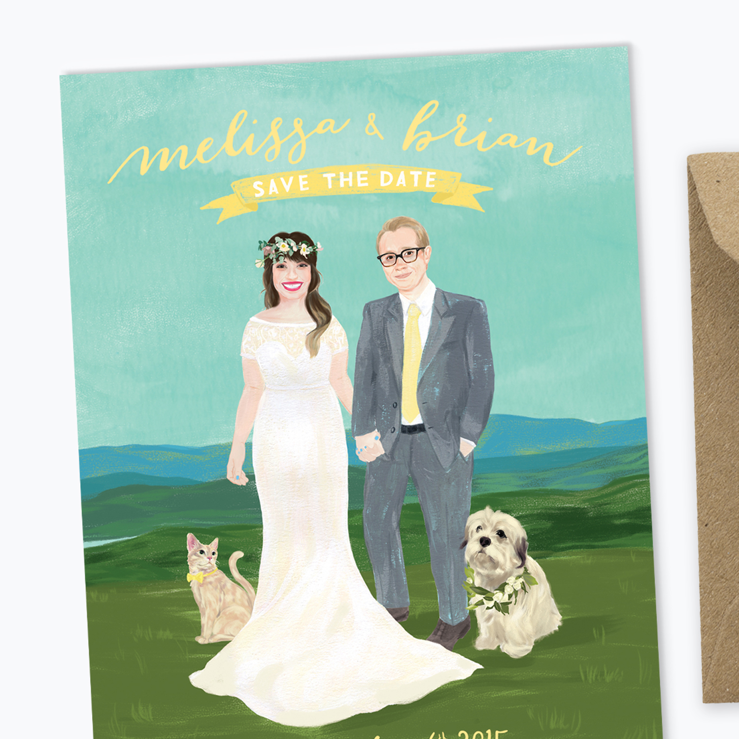 Single-sided Save the Dates